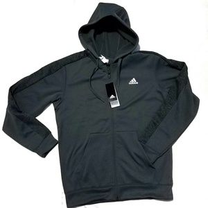 Adidas, climawarm fleece track hoodie, size M